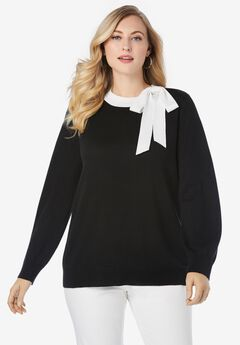 Tie-Neck Sweater,