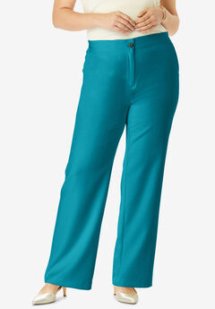 Tummy Control Bi-Stretch Bootcut Pant, DEEP TURQUOISE