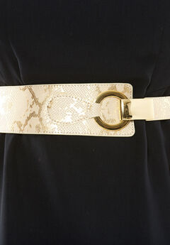 Contour Belt, CREAM GOLD