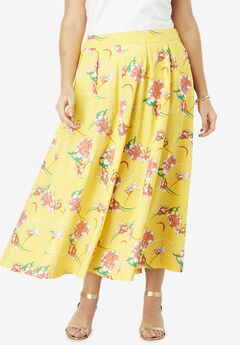 Floral Skirt, SUNSHINE YELLOW IRIS FLOWER
