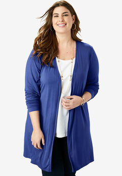 Open-Front Cardigan, ULTRA BLUE