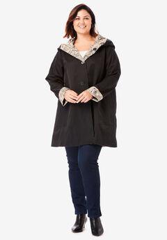 Reversible A-Line Raincoat,