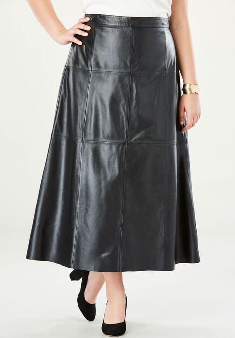 Leather Midi Skirt| Plus Size Skirts | Jessica London