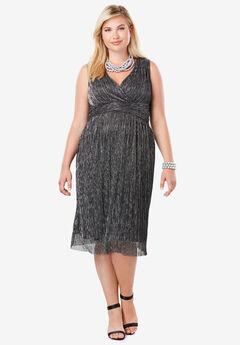 Shimmer Dress, BLACK SILVER