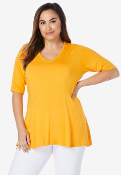 Fit & Flare Tunic, SUNSET YELLOW