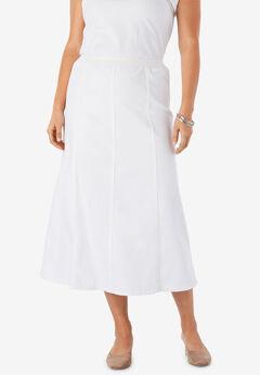 Jegging Skirt, WHITE