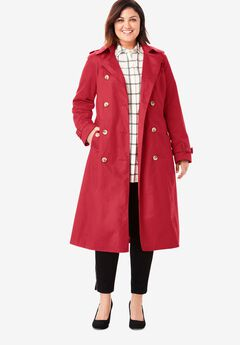 Long Trench Coat, CLASSIC RED