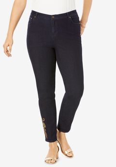 Embroidered Jeans, PAISLEY EMBROIDERY