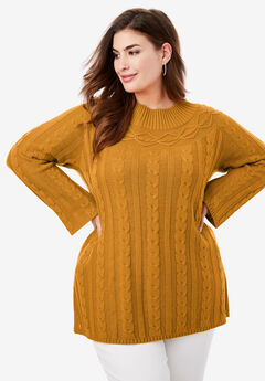 Cable Knit Tunic, RICH GOLD
