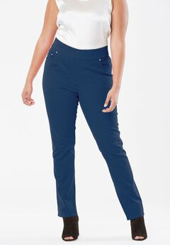 Comfort Waistband Jeans, TWILIGHT TEAL