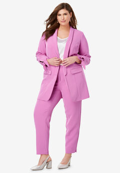 Tie-Sleeve Bi-Stretch Blazer,