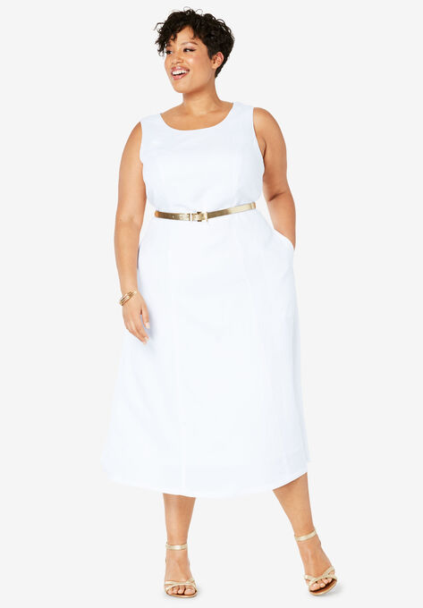 Linen Fit & Flare Dress
