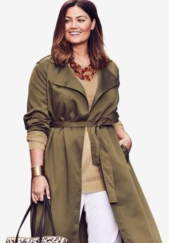 Tencel® Open Trench Coat,