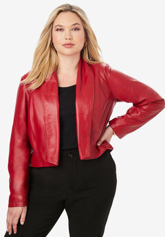 Leather Shrug, CLASSIC RED