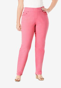 Comfort Waistband Jeans, DAZZLING PINK