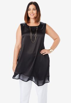 Satin Asymmetric Tunic,