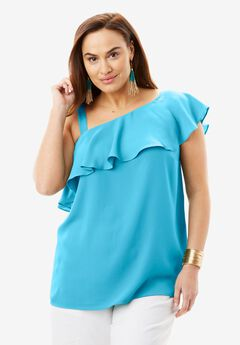 One-Shoulder Blouse,