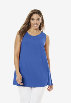 Sleeveless Swing Tunic, TRUE BLUE