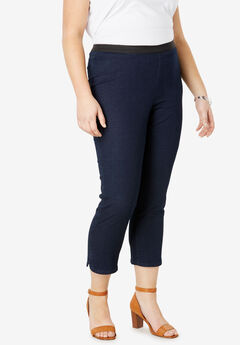 Curved Hem Crop Jeggings,