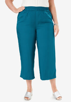Tencel® Capri Pant, DEEP TEAL