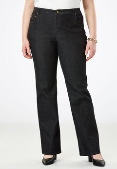 True Fit Bootcut Jeans , BLACK DENIM