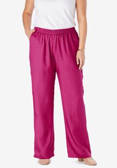 Tencel® Wide-Leg Pant, BRIGHT BERRY