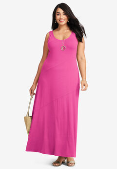 Tank Maxi Dress, TROPICAL RASPBERRY