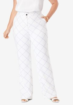 Tummy Control Bi-Stretch Bootcut Pant, BIAS WINDOW PANE