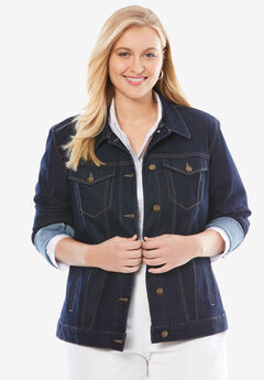 True Fit Denim Jacket, INDIGO