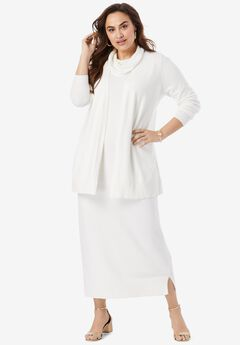 Two-Piece Sweater Dress, IVORY