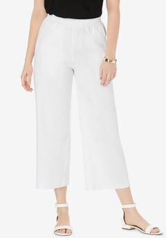 Wide Leg Linen Crop Pant,