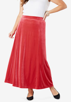 Velour Maxi Skirt,