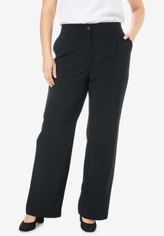 Tummy Control Bi-Stretch Bootcut Pant, BLACK
