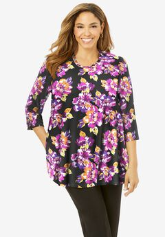 Swing Tunic, MULTI BOLD FLORAL