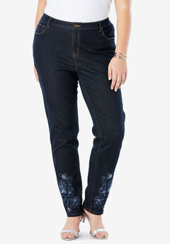 Embroidered Jeans, INDIGO