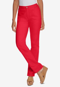 True Fit Straight Leg Jeans, VIVID RED