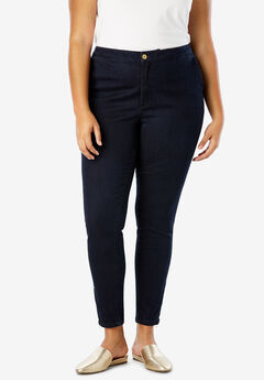 Refined Denim Ankle Zip, INDIGO