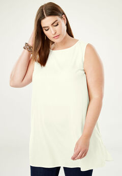 Relaxed Tunic Tank, IVORY
