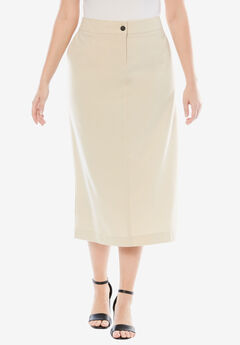 Long Bi-Stretch Skirt,