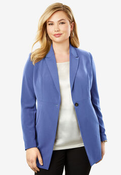 Bi-Stretch Blazer, BLUE VIOLET