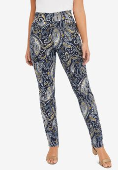 Comfort Waistband Jeans, NAVY PAISLEY
