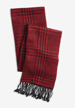 Long Scarf, CLASSIC RED BLACK HOUNDSTOOTH