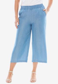 Tencel® Wide Leg Pants, BLEACH
