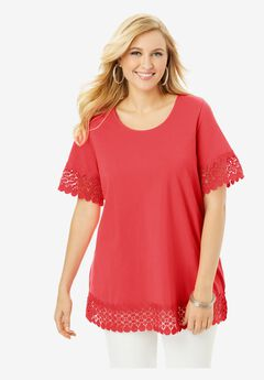 Crochet Trim Tunic,