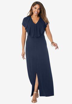 Ruffle Maxi Dress,