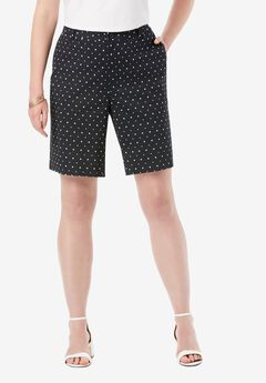 Twill Shorts, BLACK DOTS