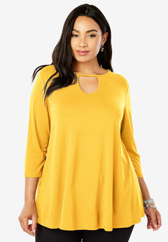 Keyhole Trapeze Tunic, SUNSHINE YELLOW