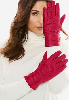 Leather Gloves, CLASSIC RED