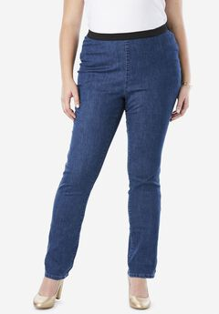 Straight Stretch Denim Jeggings,