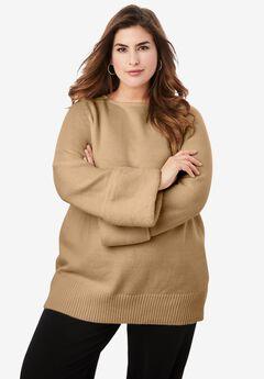 Faux Fur-Trim Sweater,